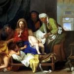 <b>ЛЕБРЕН ШАРЛЬ Св. семейство со спящим младенцем Иисусом, 1655</b>