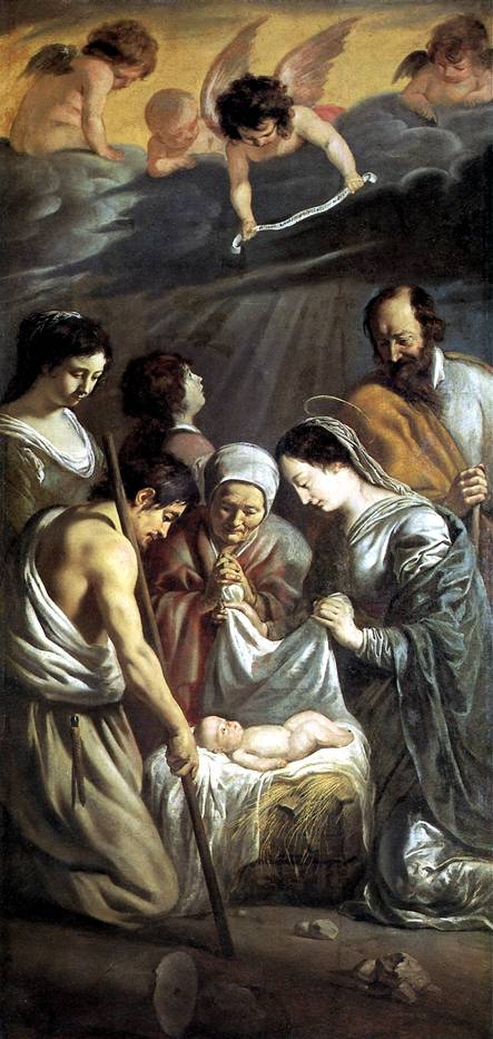 ЛЕНЕН ЛУИ И ЛЕНЕН МАТЬЁ Поклонение пастухов, 1630-1632