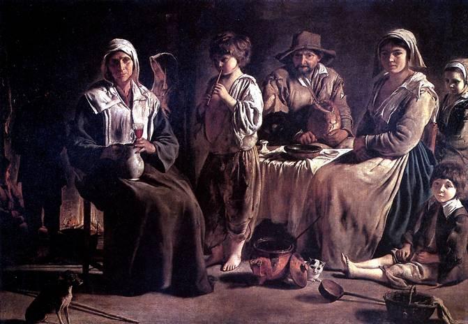 ЛЕНЕН ЛУИ Крестьянская семья в интерьере