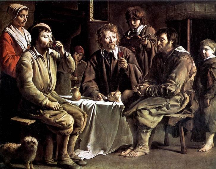 ЛЕНЕН ЛУИ Крестьянская трапеза, 1642