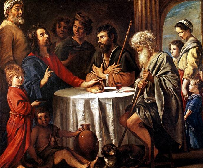ЛЕНЕН ЛУИ, АНТУАН И МАТЬЁ Христос в Эммаусе