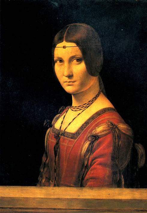 ЛЕОНАРДО ДА ВИНЧИ Портрет дамы при миланском дворе