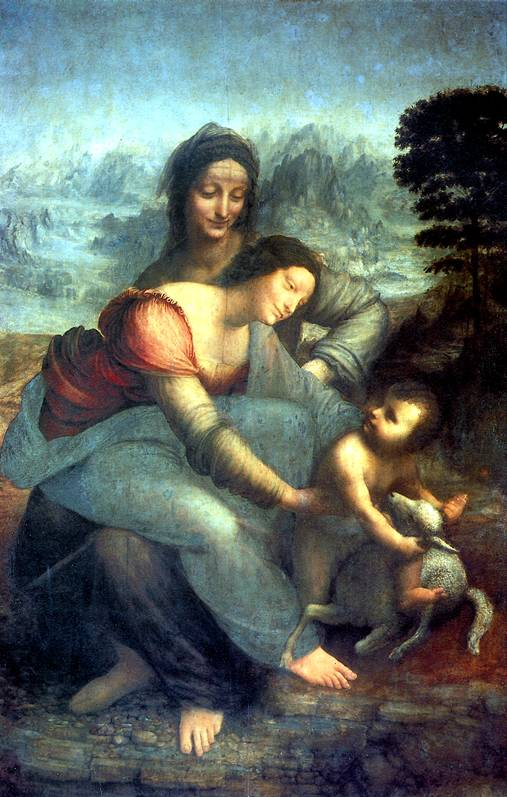 ЛЕОНАРДО Мария с младенцем и со св. Анной