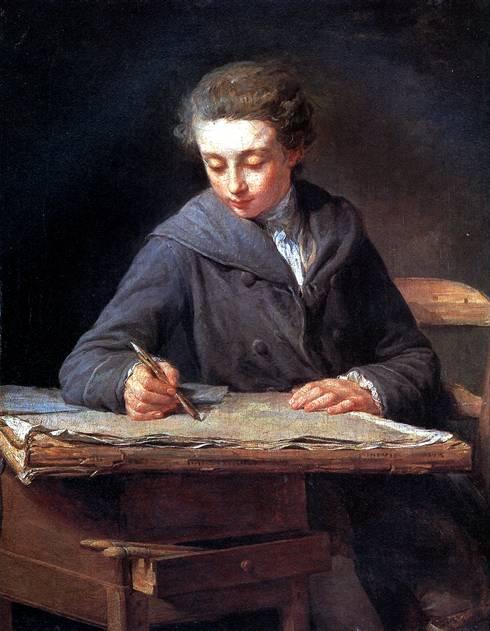 ЛЕПИСЬЕ НИКОЛА БЕРНАР Юный рисовальщик (Художник Карл Верне в возрасте четырнадцати лет), 1772