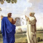 <b>ЛЕСЮЭР ЭСТАШ Св. Бруно, изучающий рисунок с термами Диоклетиана — местом будущег...</b>
