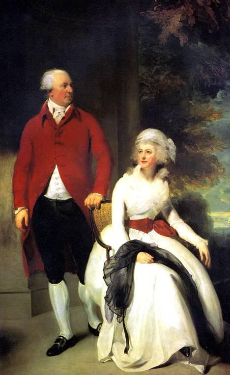 ЛОРЕНС ТОМАС Миссис и мистер Джон Джулиус Энджерстайн, 1792