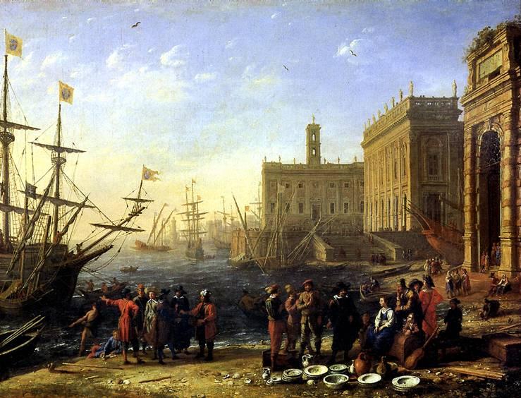 ЛОРРЕН Вид гавани с Капитолием, 1636