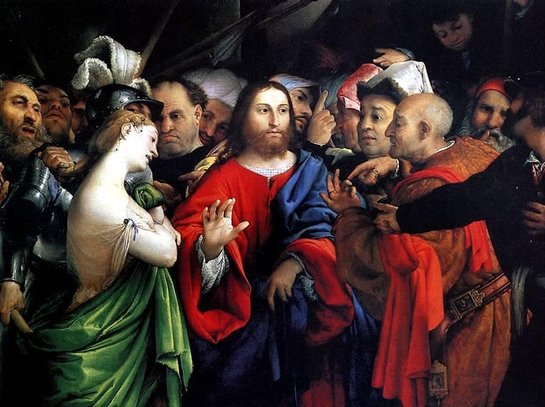 ЛОТТО ЛОРЕНЦО Христос и грешница