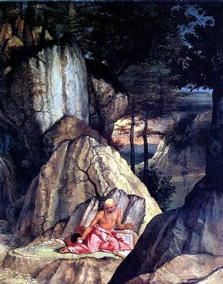 ЛОТТО Св. Иероним в пустыне, 1506