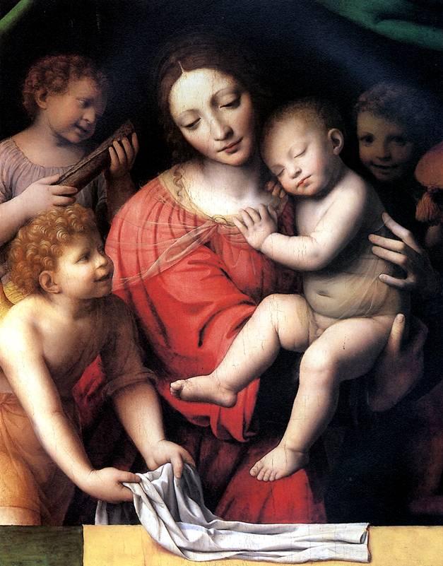 ЛУИНИ Мадонна со спящим Христом и три ангела