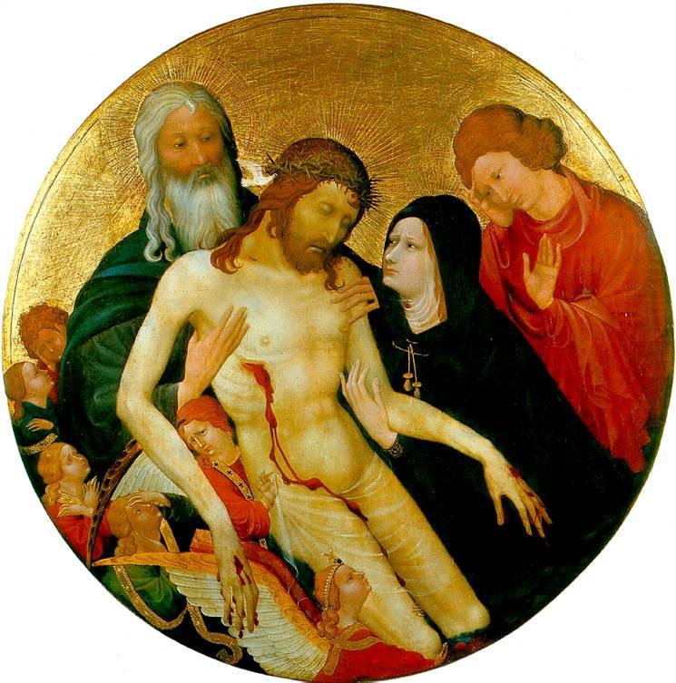 МАЛУЭЛЬ ЖАН Большая круглая Пьета (Оплакивание Христа)