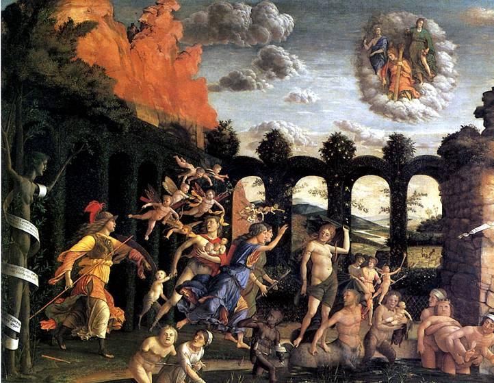 МАНТЕНЬЯ Минерва изгоняет Пороки из сада Добродетели, ок. 1502