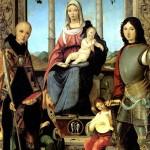 <b>МАРМИТТА ФРАНЧЕСКО Мадонна с младенцем, со святыми Бенедиктом и Квентином и двум...</b>