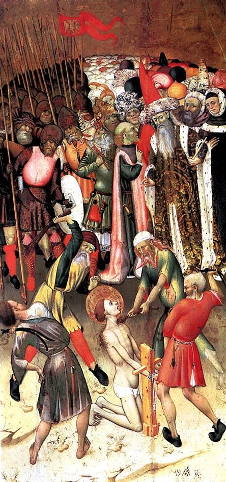 МАРТОРЕЛЛ БЕРНАРДО Сцены мученичества св. Георгия: Бичевание; Св. Георгия волокут привязанным к коню