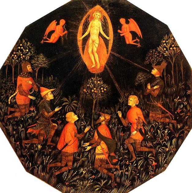 МАСТЕР ВЗЯТИЯ ТАРЕНТО Триумф Венеры с поклоняющимися ей Ахиллом, Тристаном, Ланселотом, Самсоном, Парисом и Троилом
