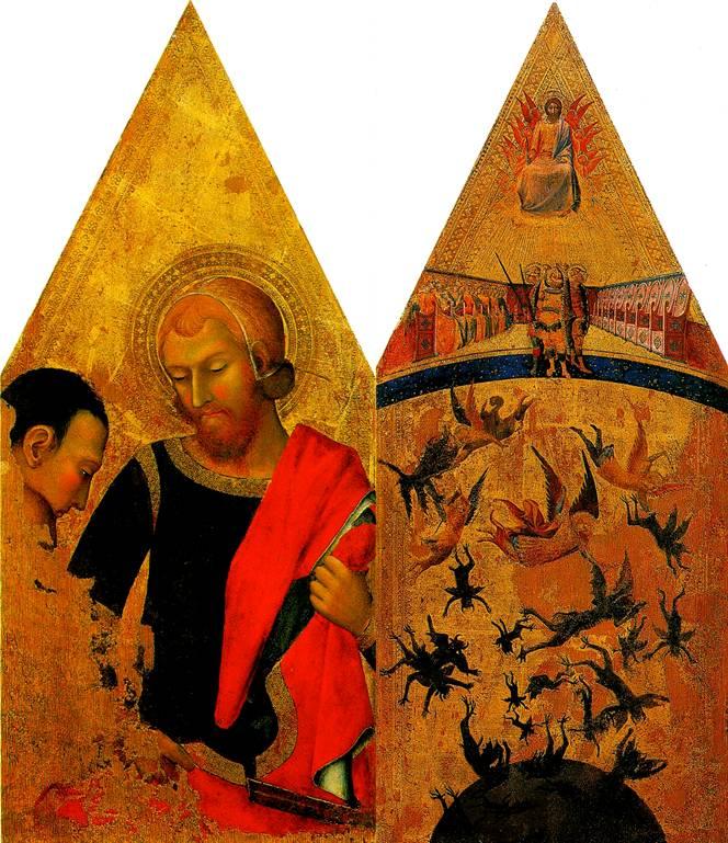 МАСТЕР ВОССТАВШИХ АНГЕЛОВ Св. Мартин и нищий; Падение восставших ангелов