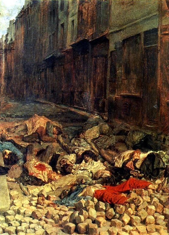 МЕСОНЬЕ ЭРНЕСТ Баррикада, улица Мортеллери, июнь 1848 г., или Память о гражданской войне