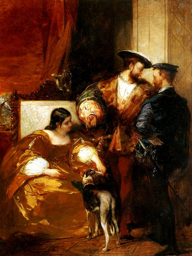 БОНИНГТОН РИЧАРД ПАРКС Франциск I и герцогиня д'Этамп