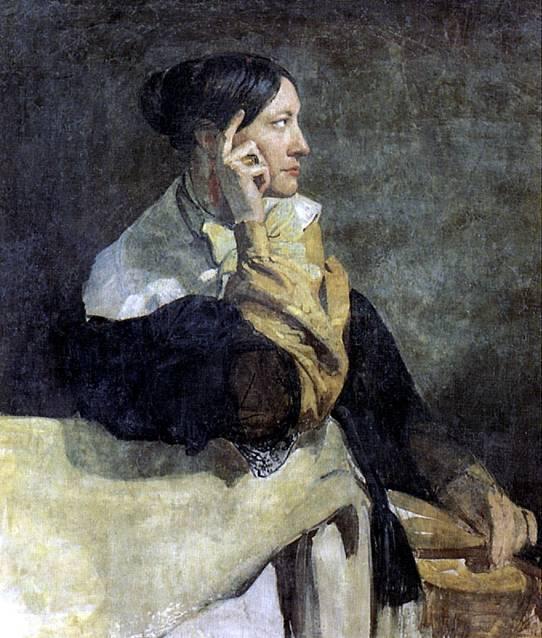 МОТТЕ ВИКТОР Мадам Мотте, жена художника