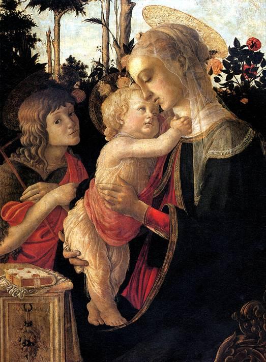 БОТТИЧЕЛЛИ Мадонна с младенцем и со св. Иоанном Крестителем