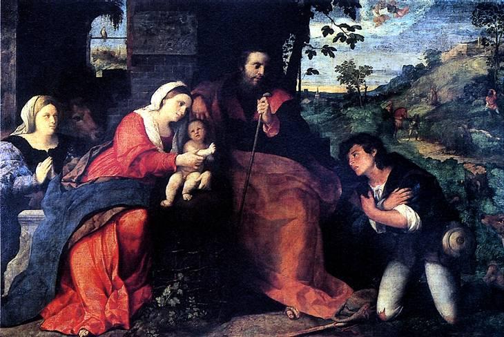 НЕГРЕТТИ ЯКОПО, ПРОЗВАННЫЙ ПАЛЬМА ВЕККЬО Поклонение пастухов с донатором