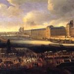 <b>Панорама Парижа в XVII в. с видом на Лувр от Нового моста</b>