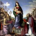 <b>АЛЬБЕРТИНЕЛЛИ МАРИОТТО Мадонна с младенцем и со святыми Иеронимом и Зенобием, 15...</b>