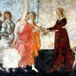 <b>БОТТИЧЕЛЛИ Молодая женщина получает дары от Венеры и трех Граций</b>
