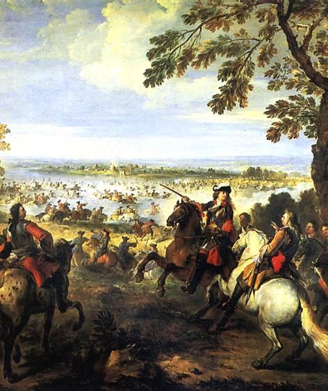 ПАРРОСЕЛЬ ЖОЗЕФ Переправа через Рейн армии Людовика XIV 12 июня 1672 г