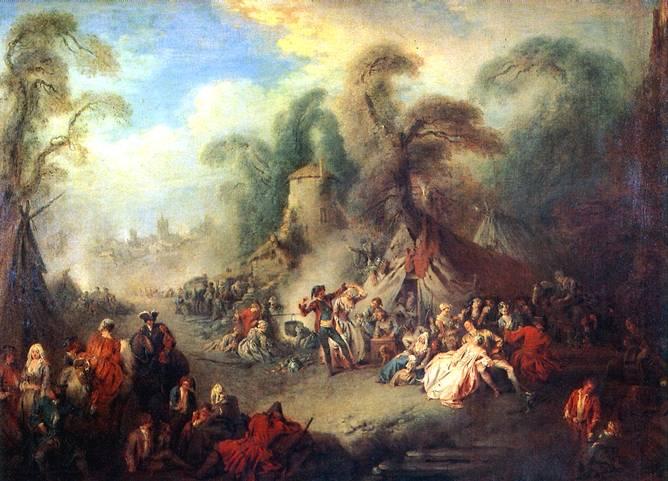 ПАТЕР ЖАН БАТИСТ Сельский праздник с солдатами, 1728