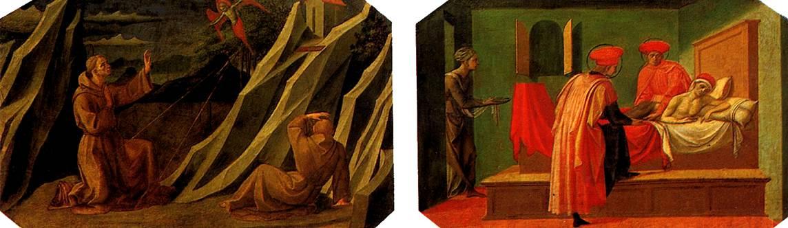 ПЕЗЕЛЛИНО Святой Франциск, получающий стигматы; Святые Косьма и Дамиан, врачующие больного