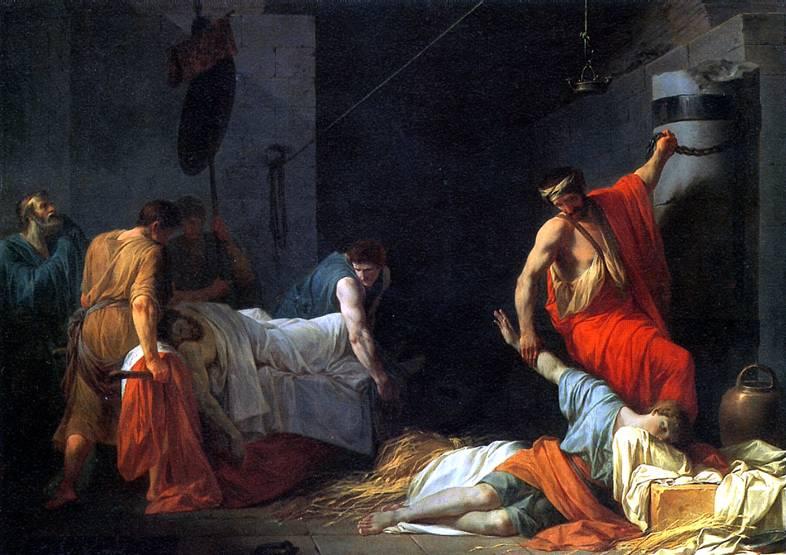 ПЕЙРОН ЖАН ФРАНСУА ПЬЕР Погребение Мильтиада, 1782