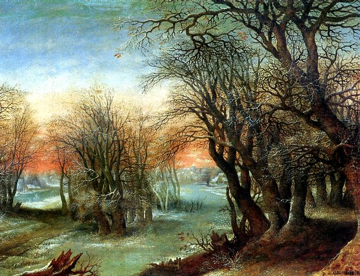 АЛЬСЛОТ ДЕНИС ВАН Зимний пейзаж, 1610