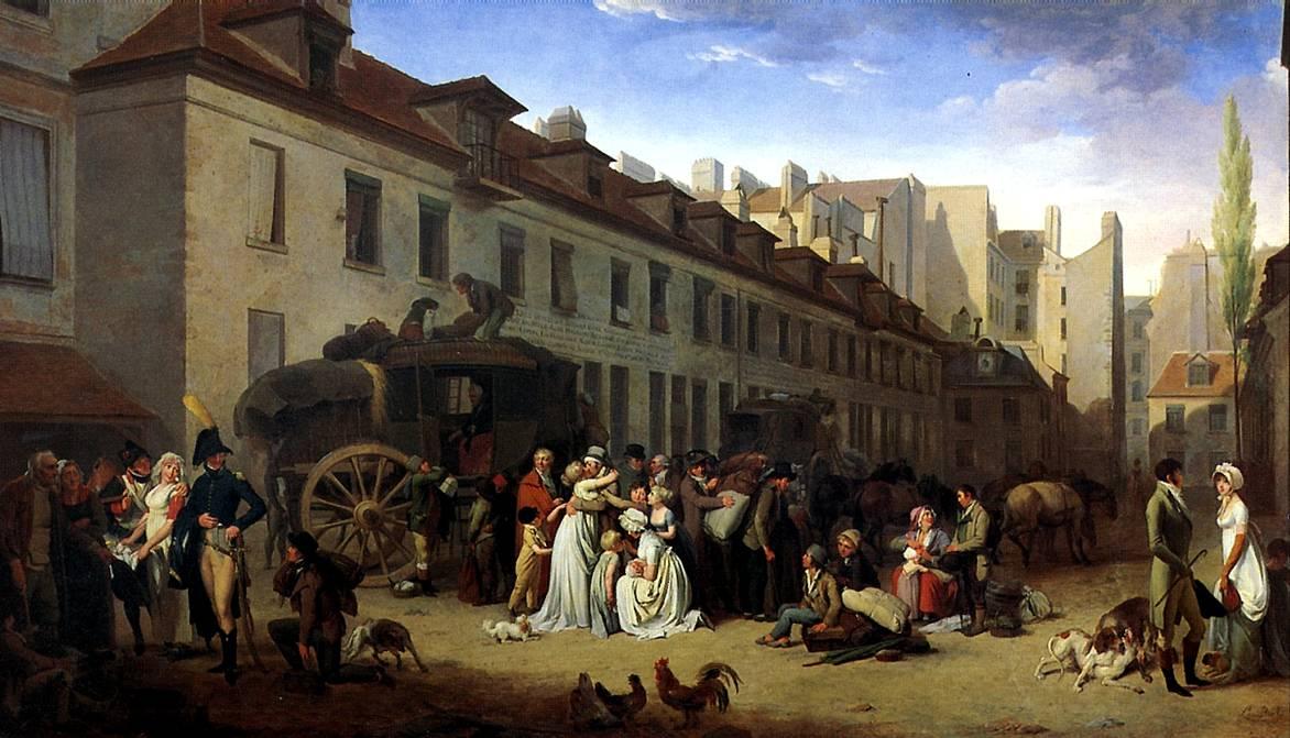 БУАЛЬИ ЛУИ ЛЕОПОЛЬД Прибытие дилижанса, 1803