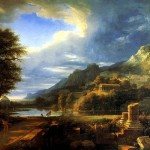 <b>ВАЛАНСЬЕН ПЬЕР ДЕ Античный город Агридженто. Пейзаж-фантазия.</b>