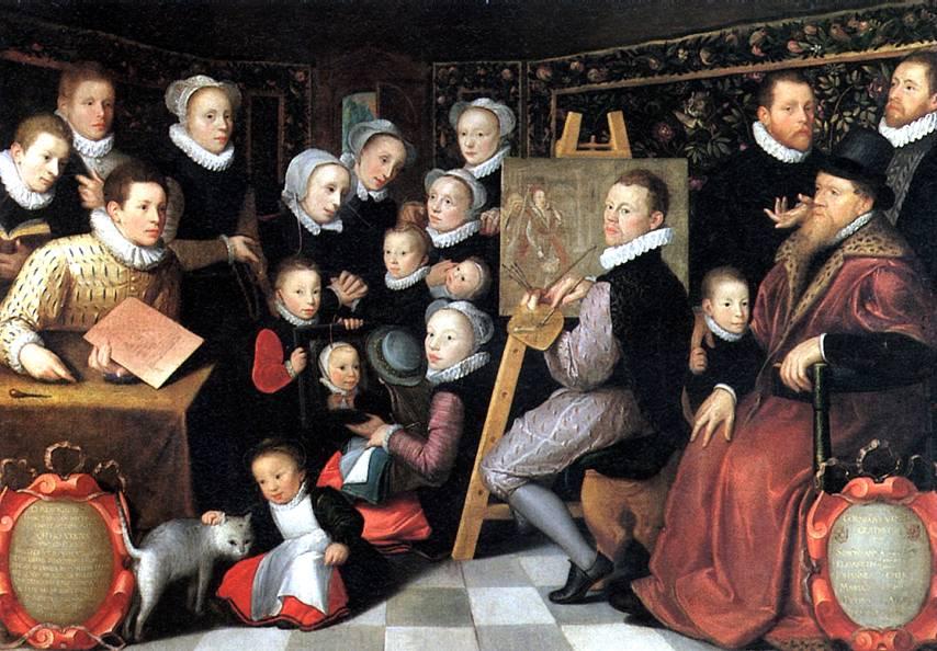 ВАН ВЕН ОТТО (ОТТО ВЕНИУС) Художник Отто Вениус в окружении домочадцев, 1584