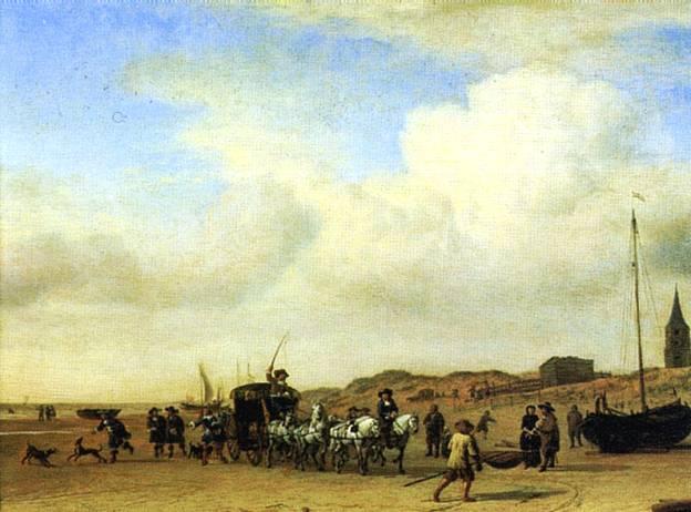 ВАН ДЕ ВЕЛДЕ АДРИАН Кортеж в Схевенингене, 1660