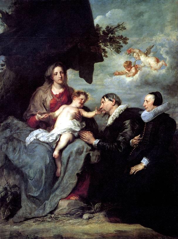 ВАН ДЕЙК АНТОНИС Мария с младенцем Христом и с донаторами