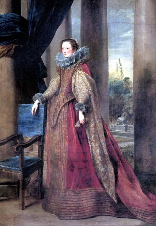 ВАН ДЕЙК АНТОНИС Предполагаемый портрет маркизы Джеронимы Спинола-Дориа из Генуи