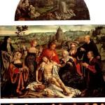 <b>ВАН КЛЕВЕ ЙОС Оплакивание Христа с Тайной вечерей (пределла) и св. Франциском, п...</b>