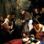 <b>ВАН ОСТ МЛАДШИЙ, ЯКОБ Св. Макарий Гентский, причащающий во время чумы, 1673</b>