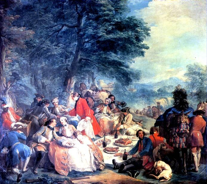 ВАНЛОО КАРЛ Отдых на охоте, 1737