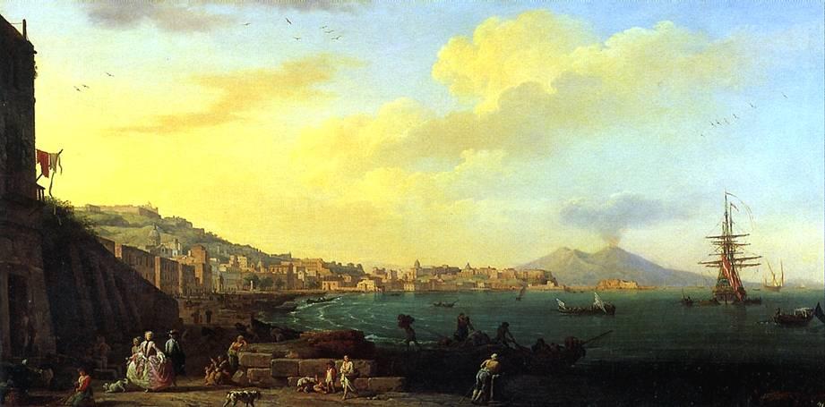 ВЕРНЕ КЛОД ЖОЗЕФ Вид Неаполя с Везувием