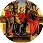 <b>ПЕРУДЖИНО Мадонна с младенцем в окружении ангелов, св. Розы и св. Екатерины</b>