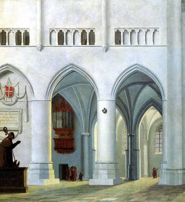 САНРЕДАМ ПИТЕР ЯНС Интерьер церкви св. Бавона в Хаарлеме