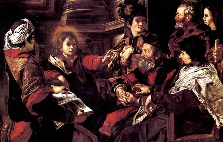 СЕРОДИНЕ ДЖОВАННИ Христос, проповедующий в храме