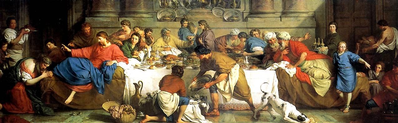 СУБЛЕЙРА ПЬЕР Трапеза в доме Симона, 1737