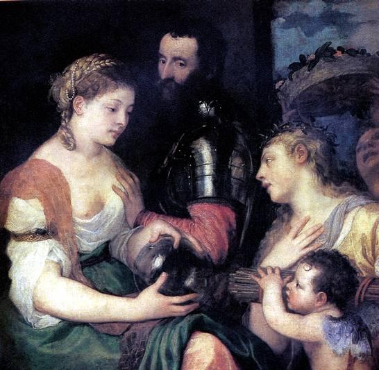 ТИЦИАН Аллегория, возможно, свадьбы Весты и Гименея как покровителей союза между Венерой и Марсом