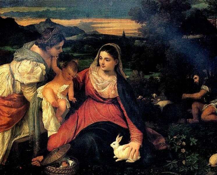 ТИЦИАН Мадонна с кроликом, 1530