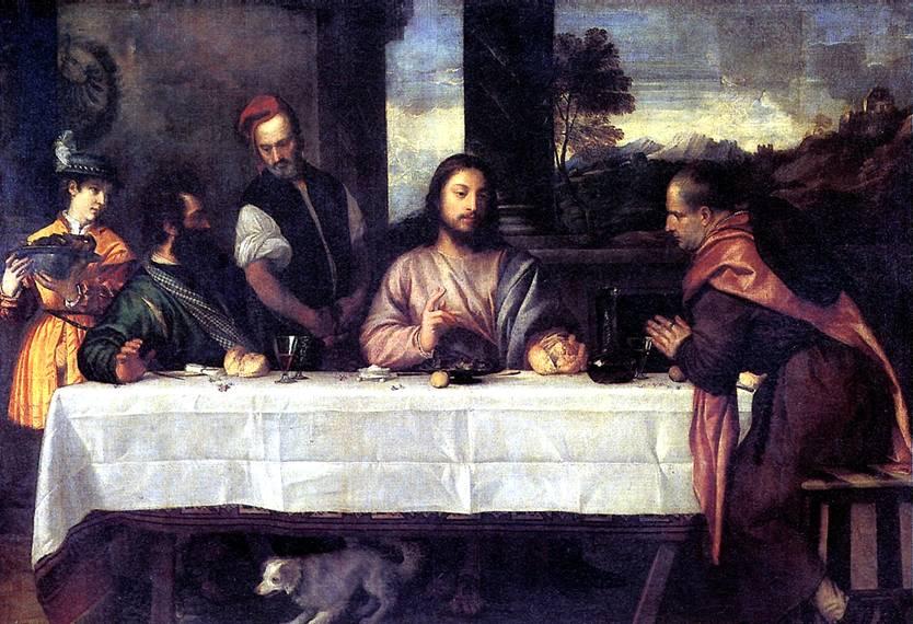 ТИЦИАН Христос в Эммаусе, ок. 1535
